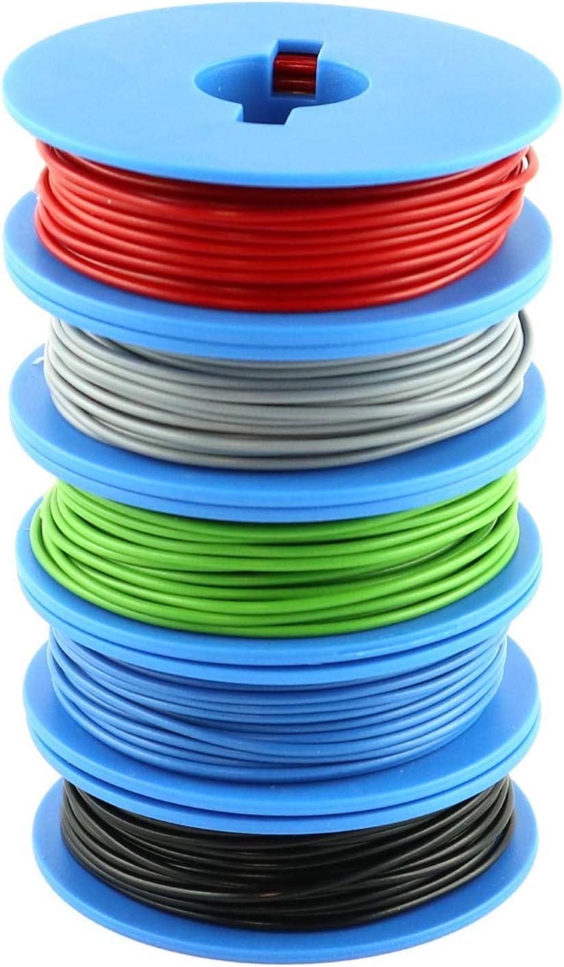 Xenterio YV Assortiment de fils de commutation de 0,5/mm 10/bobines de 25/m dans  10/couleurs
