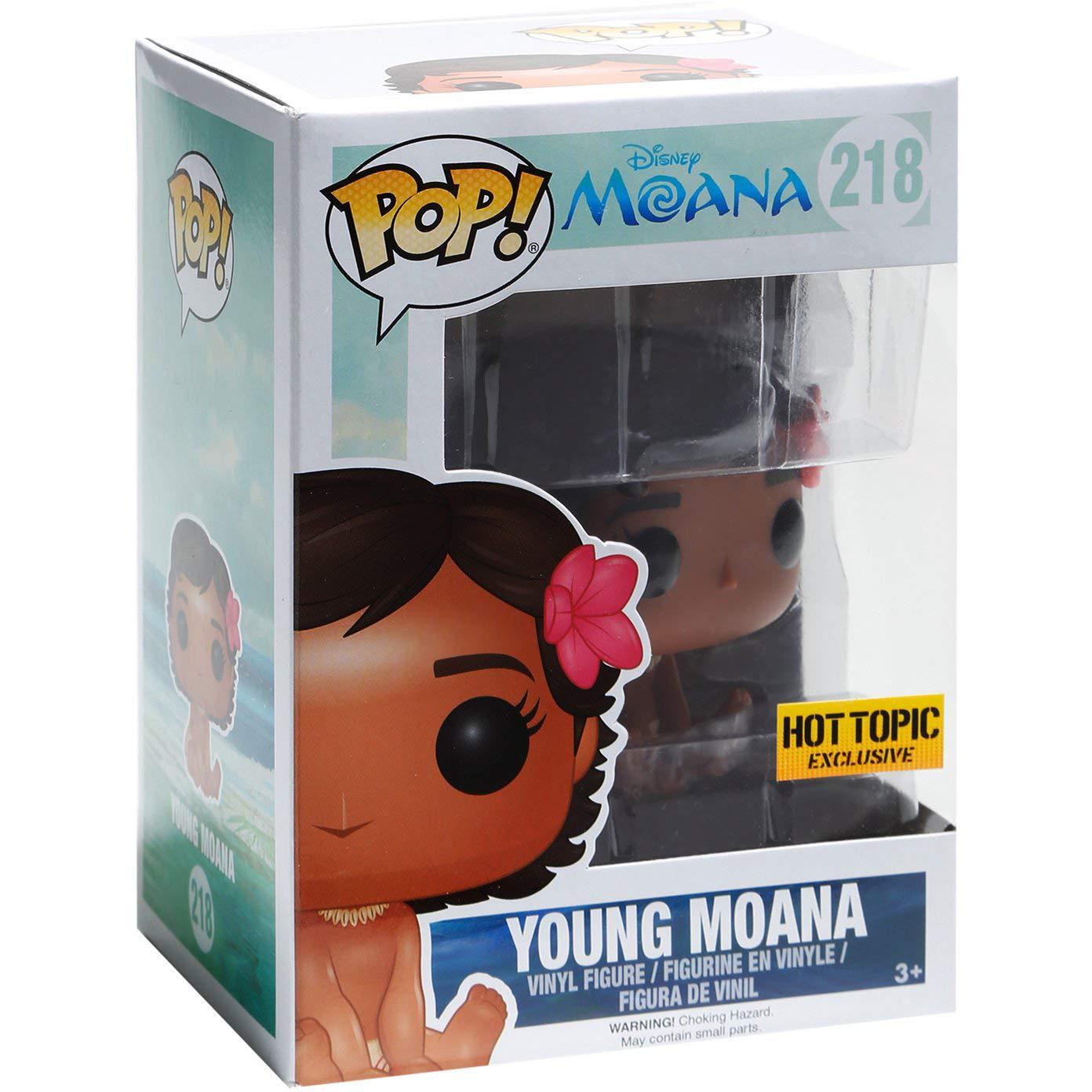 Hot Topic Exclusive #218 // 11491 - B Compatible PET Plastic Graphical Protector Bundle Funko Young Moana Disney Vinyl Figure /& 1 POP : Moana x POP