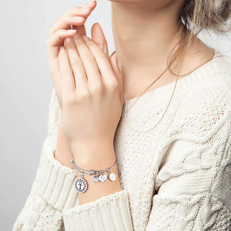 Charmire Inspirational Bangle Bracelet Womens Jewelry Gifts