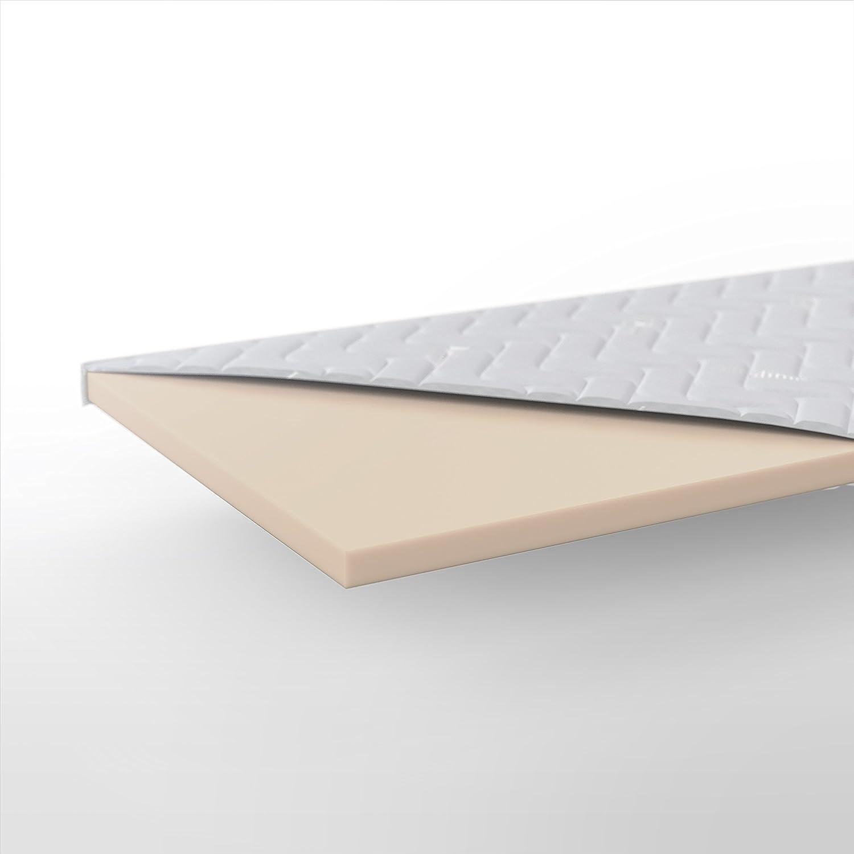 Hilding aus Sweden Nature Matratzentopper, aus Hilding Naturlatex, Kühlende Matratzenauflage für besseren Schlafkomfort, 200 x 100 cm, weiß 848288