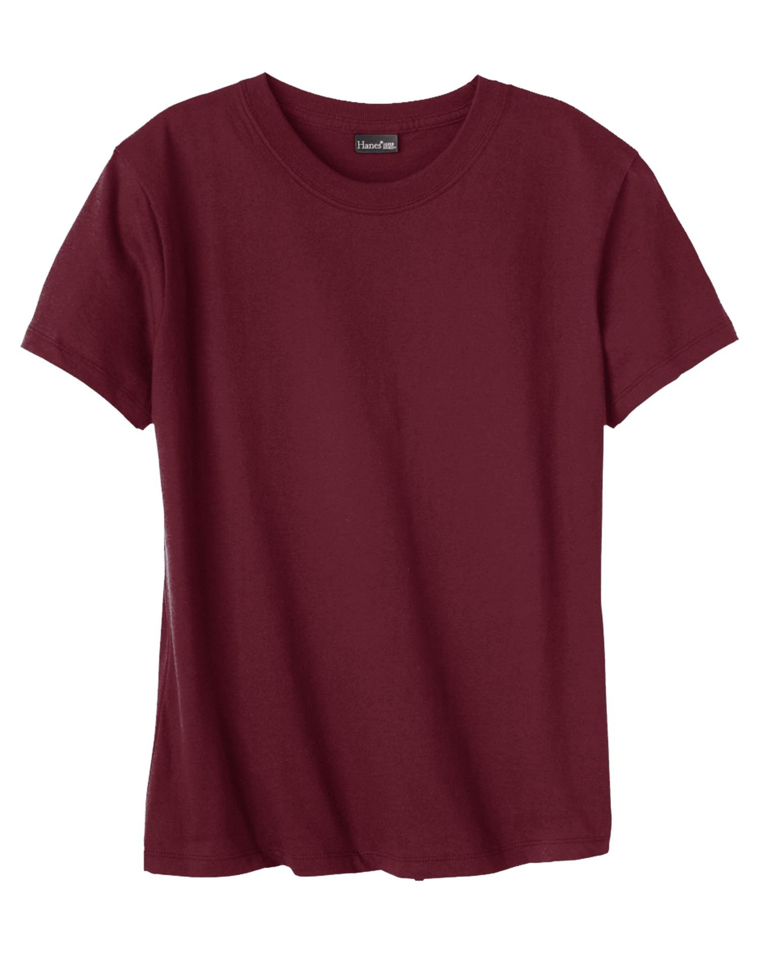 Hanes 4.5 oz Women's NANO-T Lightweight Premium T-Shirt - Maroon - S