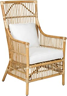 East At Main Tucker Brown Rattan Occasional Living Room Accent Chair,  (27x24x43)