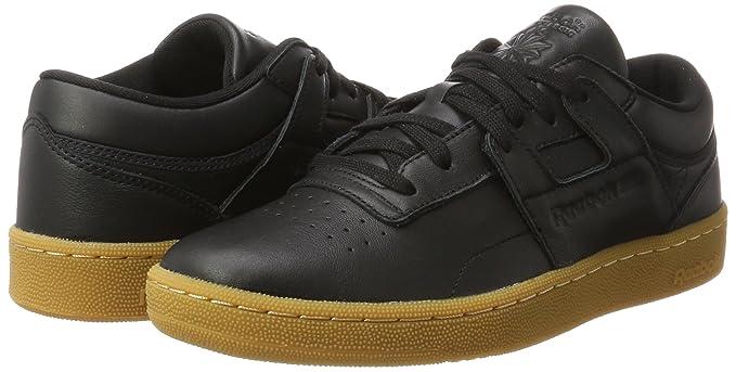 Amazon.com  Reebok Club Workout Mens Sneakers Black  Clothing 7de7c909c