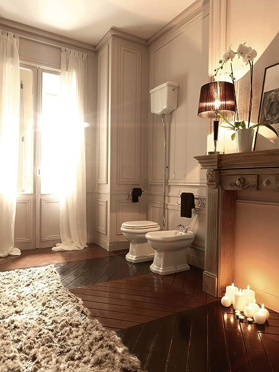 61b39ffb8c2629 - WC à poser - Pack WC complet à réservoir haut CHAMBORD sortie horizontale  - Cristina Ondyna WCH1011  Amazon.fr  Bricolage