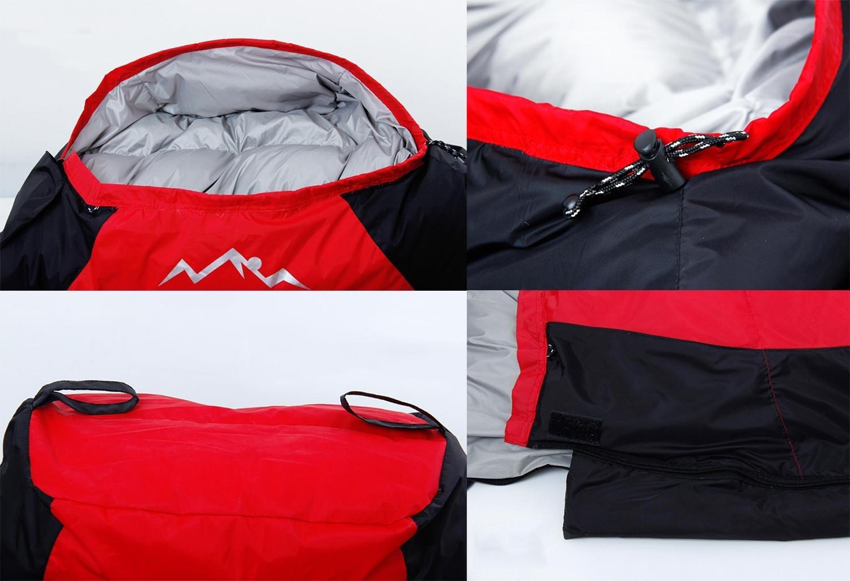 Al aire libre Bolsas de dormir Pluma / pato abajo Invierno Más grueso Camping -20 calor Camping Bolsas de dormir 2300 g , red: Amazon.es: Deportes y aire ...