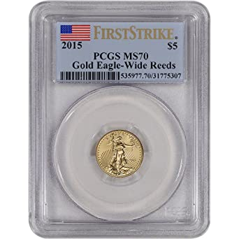 First Releases $5 2015 American Gold Eagle 1//10 oz NGC MS70 Wide Reeds