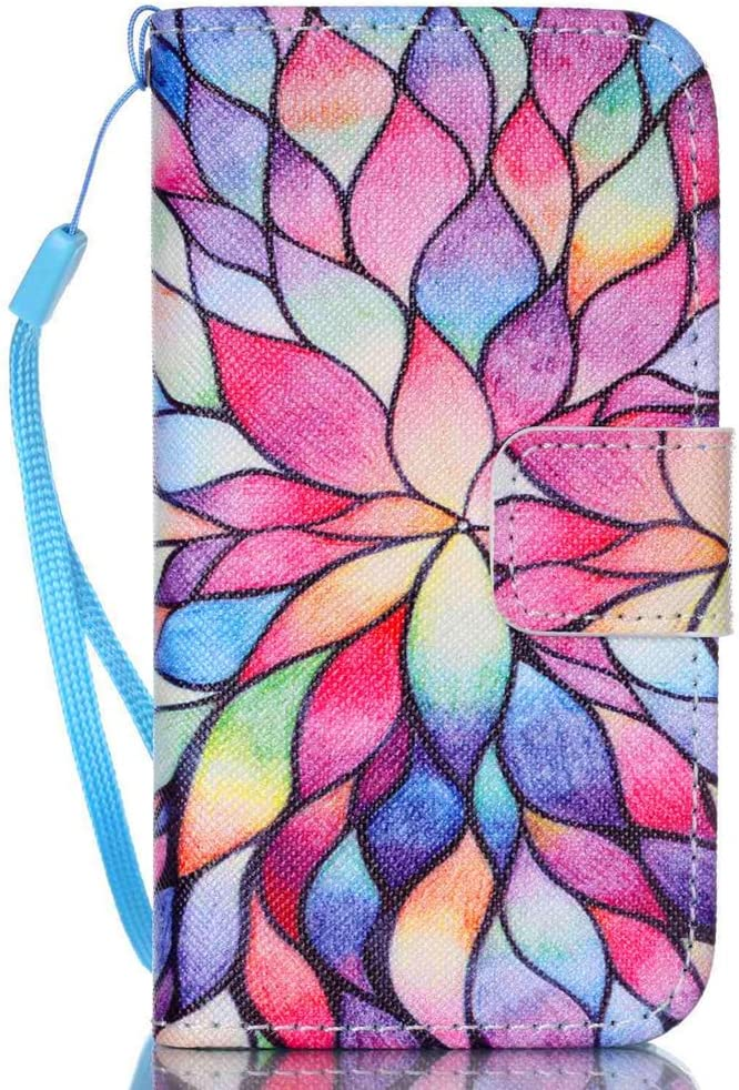 JanCalm iPhone 4S Case,iPhone 4 Case, [Wrist Strap Design][Kickstand] Pattern Premium PU Leather Wallet [Card/Cash Slots] Flip Cover for iPhone 4/4S (3.5 Inch) Including-ONE Crystal Pen (Water Lily)