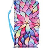 iPhone 4S Case,iPhone 4 Case,JanCalm [Wrist Strap Design][Kickstand] Pattern Premium PU Leather Wallet [Card/Cash Slots] Flip Cover for iPhone 4/4S (3.5 Inch) Including-ONE Crystal Pen (Water lily)