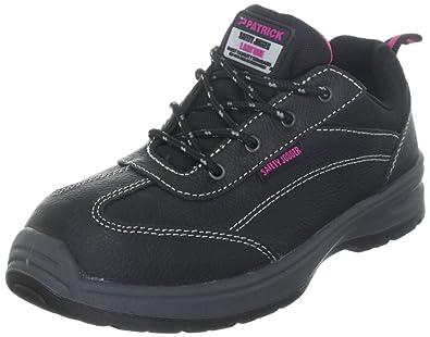 ZQ Zapatos de mujer - Tacón Plano - Comfort / Puntiagudos - Oxfords - Exterior / Casual - Semicuero - Negro / Bermellón , black-us6 / eu36 / uk4 / cn36 , black-us6 / eu36 / uk4 / cn36