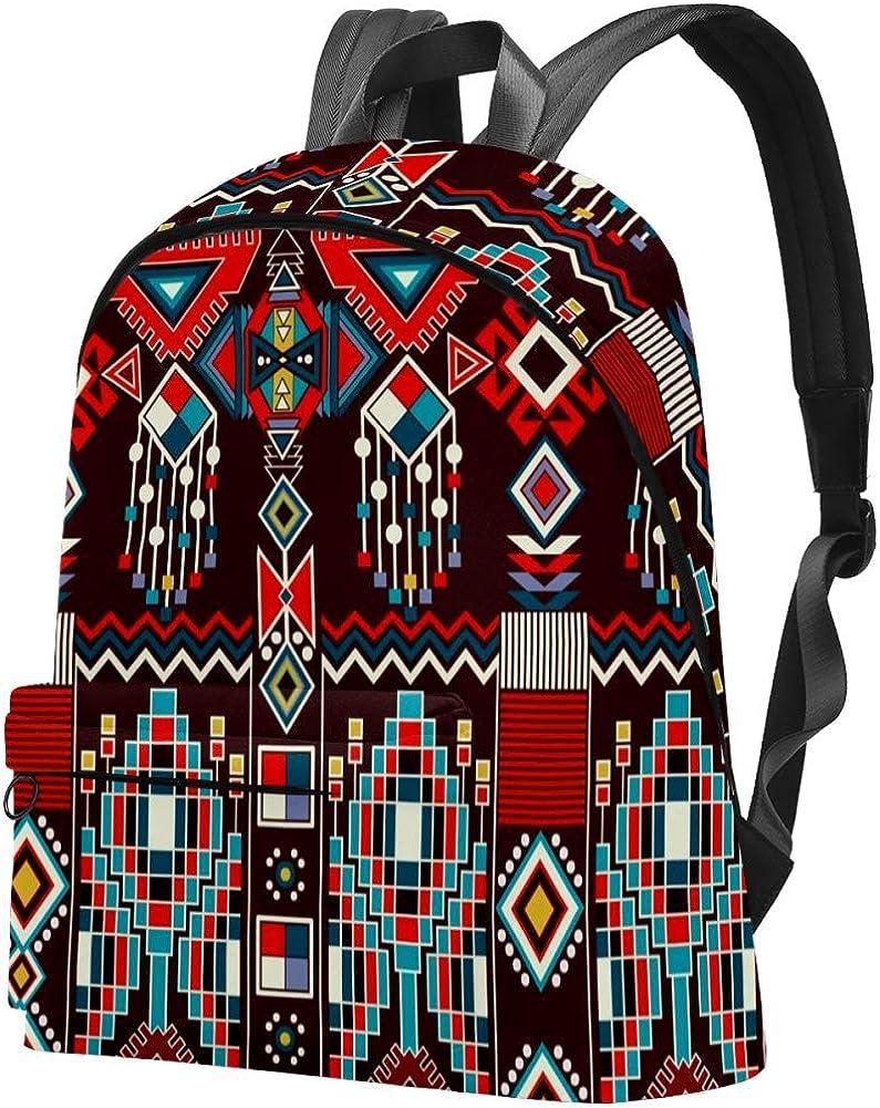 Woman Backpack Native American Navajo Shoulder Bag Daypack for Girls School Bag