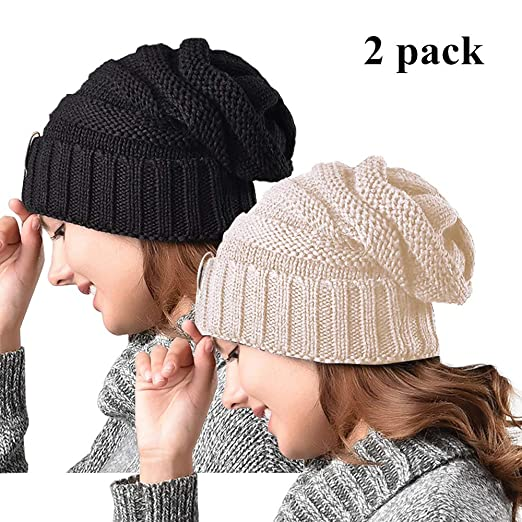 Amazon.com  ZOORON Women Warm Slouchy Beanie Hats 3309701cb0f