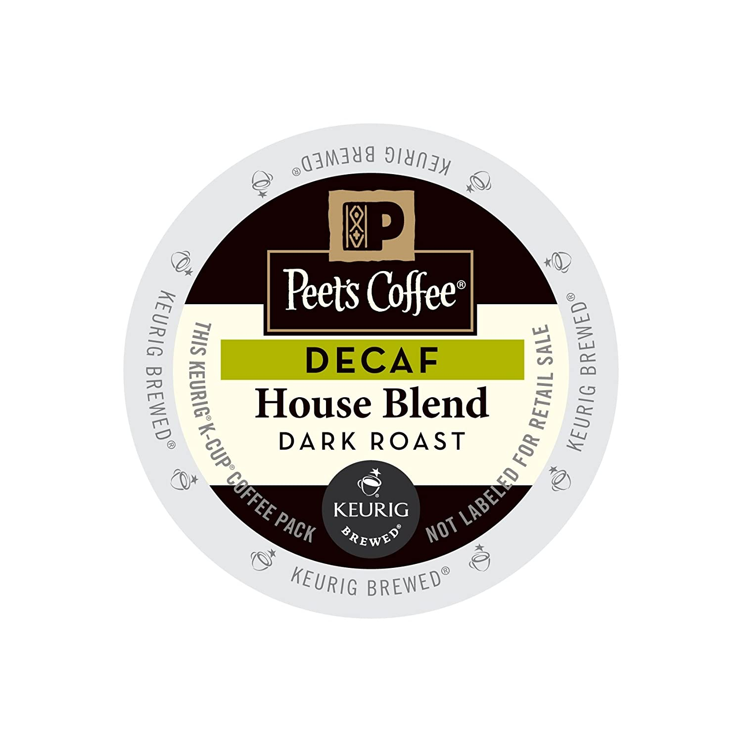Peet's Coffee & Tea Coffee Decaf House Blend K-Cup Portion Pack for Keurig K-Cup Brewers, 88 Count