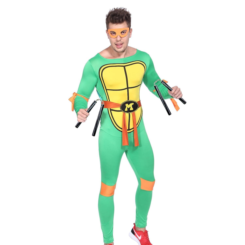 80s TV Show Teenage Mutant Ninja Turtles Costume TMNT Fancy Dress w/Mask