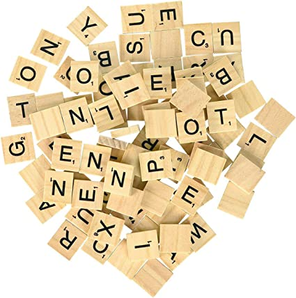 Individual Tiles Word Game Alphabets Kids Crafts Letters Fun Art Home Decor