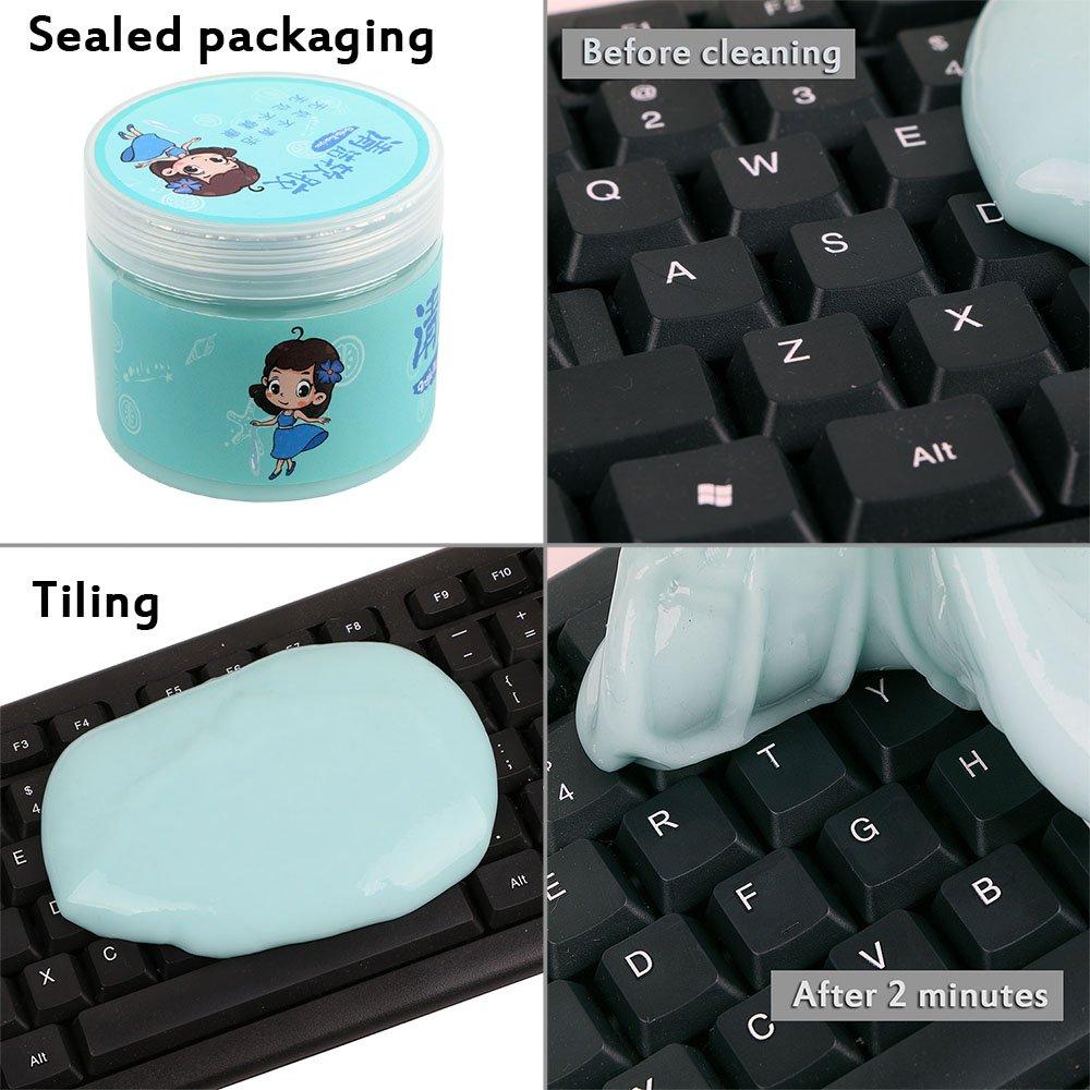 Limpiador de teclado Fiste Magic; potente limpiador para eliminar polvo, pelos y migas, se puede reutilizar y sirve para teclados, ventilación y más: ...