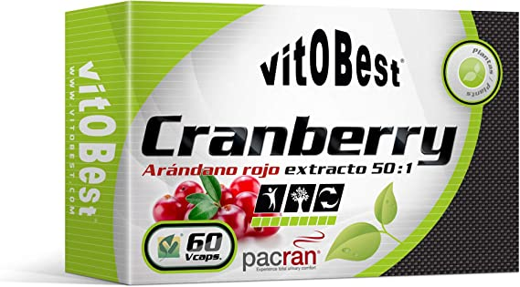 CRANBERRY - Arandano rojo - 60 Caps. - Suplementos Alimentación y Suplementos Deportivos - Vitobest