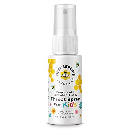 Bee Propolis Throat Spray for Kids by Beekeeper's Naturals | Premium 95%  Bee Propolis Extract | Natural Throat Relief and Immune Support | Sweetened