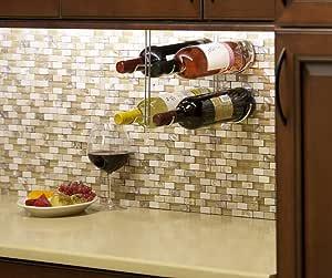 Under Cabinet Wine Rack, 4 Bottle - Chrome
