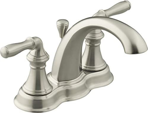 KOHLER K-393-N4-BN Devonshire Bathroom Sink Faucet, Vibrant Brushed Nickel