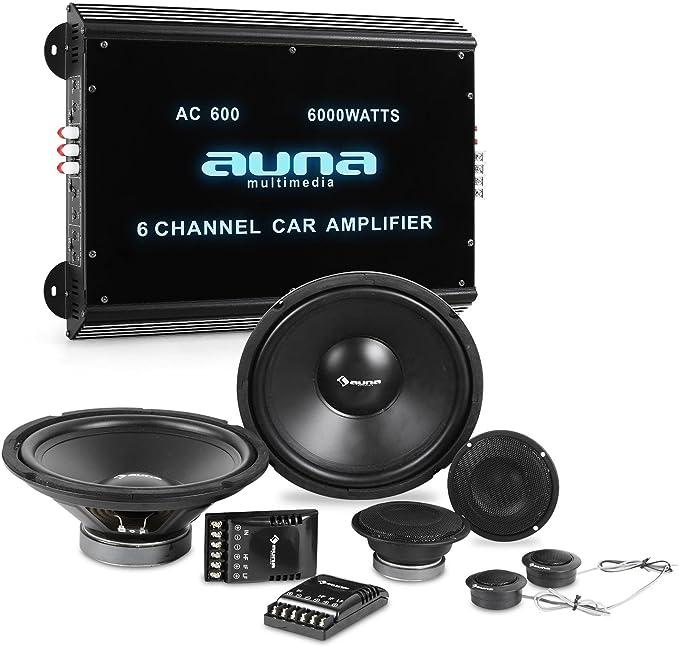 Auna Car-HiFi Set Quipo de Audio HiFi para Coche 8000W Potencia ...