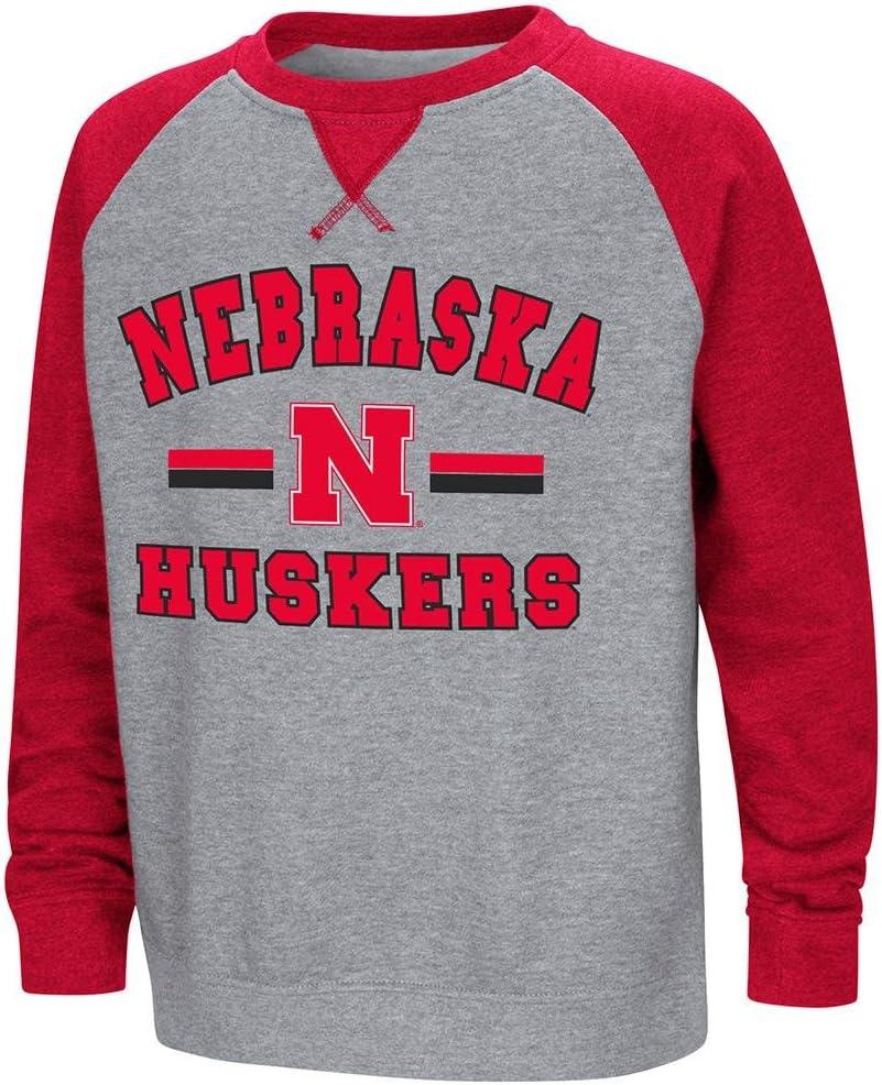 Youth Nebraska Cornhuskers Fleece Crewneck Sweatshirt
