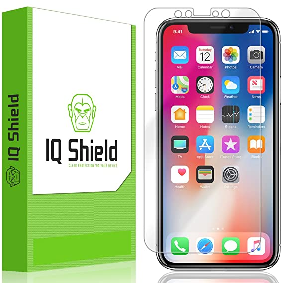 new arrival 7edf6 383af iPhone X Screen Protector, IQ Shield LiQuidSkin Full Coverage Screen  Protector for iPhone X (Max Coverage, 2-Pack) HD Clear Anti-Bubble Film