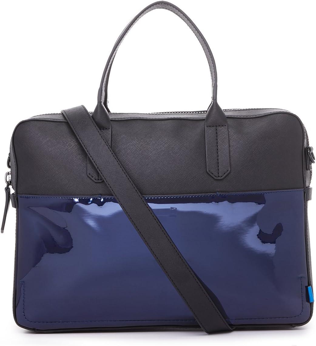 Uri Minkoff Men's Fulton Leather Briefcase, Blue Chrome, One Size 71cOw4J6BFLSL1500_