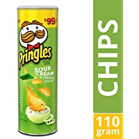 Pringles Potato Chips, Sour Cream and Onion, 110g