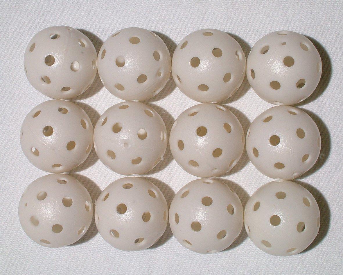 ホワイト穴あき練習ゴルフボールに12、24、60、120または240 Count (各別売り) 12 count  B003TH7LX0