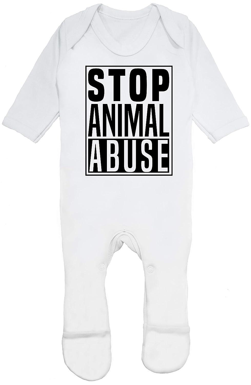 HippoWarehouse Stop Animal Abuse Traje Todo-en-uno bebé algodón ...