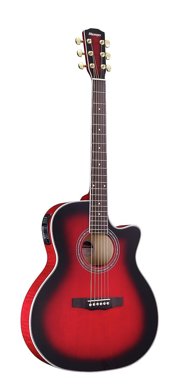 モーリス エレアコギター Morris R-601 SRB シースルーレッドバースト   B0119D3DGY