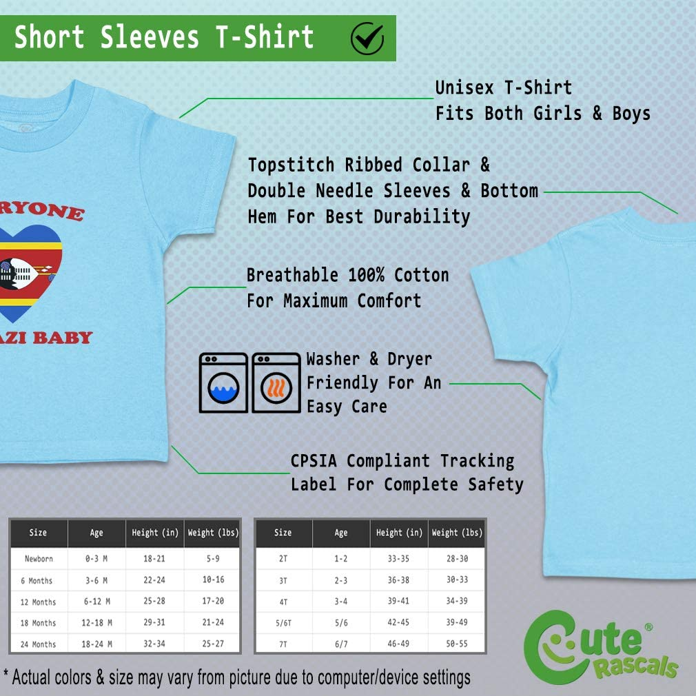 Custom Baby /& Toddler T-Shirt Everyone Loves Swazi Cotton Boy Girl Clothes