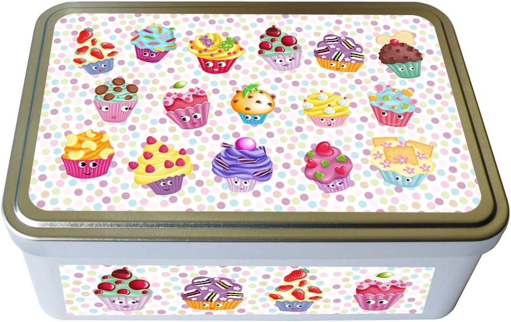 Kalam - Caja metálica decorada para pasteles, cuadrada, diseño de ...