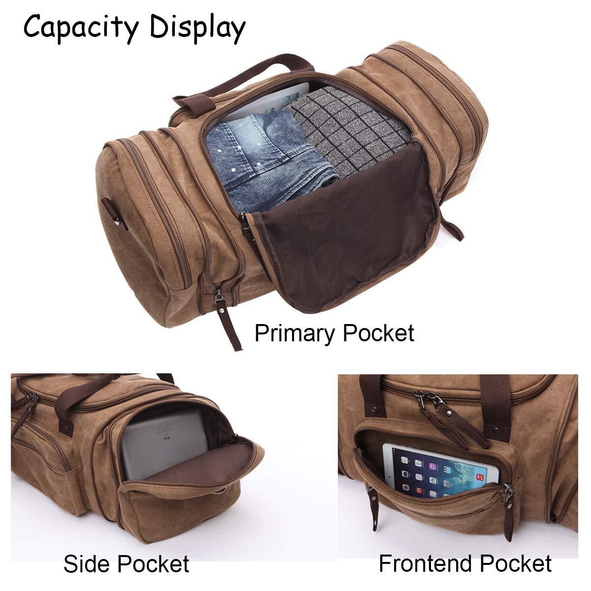 Fashion Men and Women 20 Travel Duffel Bag Large Canvas Gym Sports Handbag Vintage Weekender Luggage Bag Overnight Carryon Tote Shoulder Bag 53/×25/×30cm