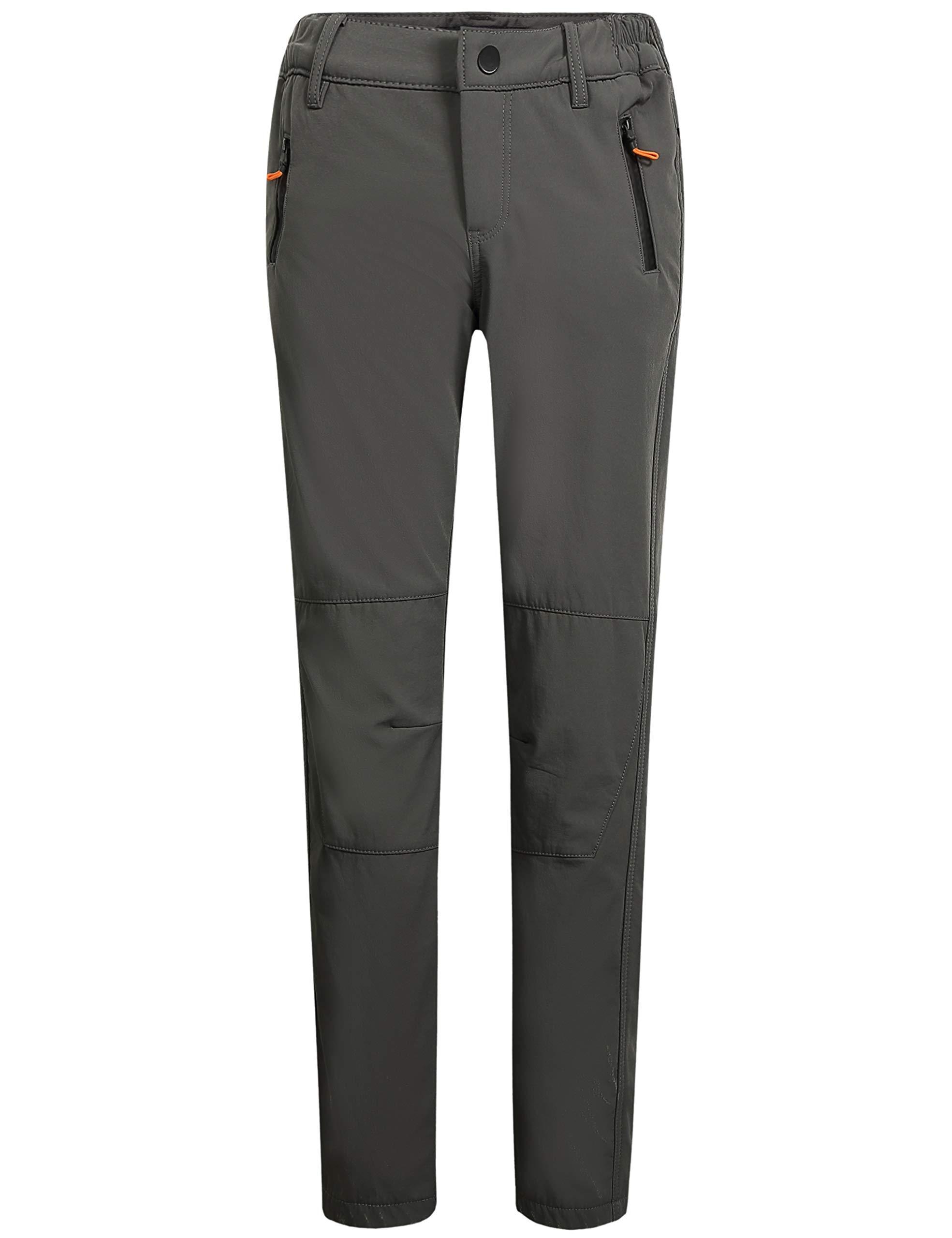 Camii Mia Women's Windproof Waterproof Sportswear Outdoor Hiking Fleece Pants (W28 x L30, Charcoal Grey) by Camii Mia