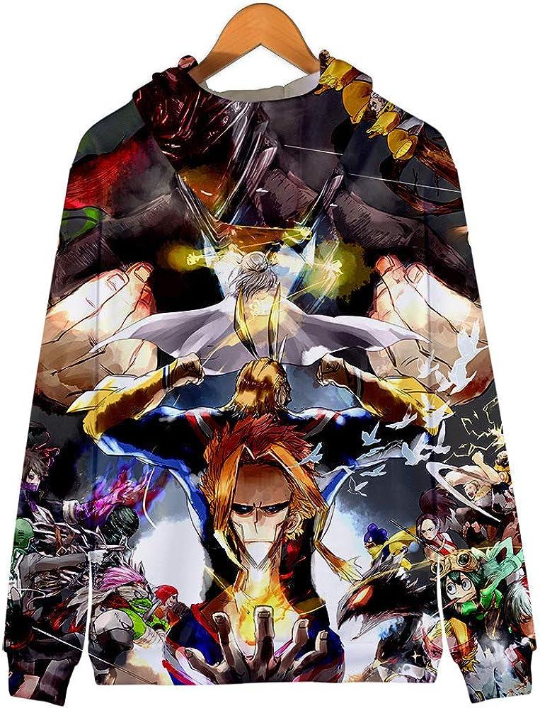 My Hero Academia Pullover Fashion Hoodies Sweatshirt Coat Printed Hooded Jacket Comfortable Cardigan Coat