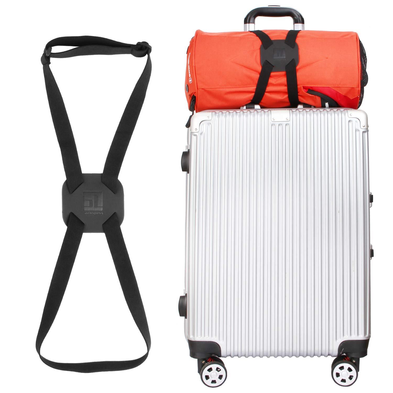 Bag Bungee Luggage Straps Suitcase Adjustable Belt (Black)