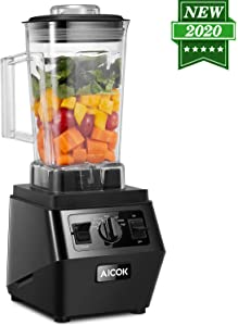 Smoothie Blender Kitchen Blender for Shakes and Smoothies Frozen Drink Blender Maker High Capacity Professional Countertop Blender with BPA Free Pitcher and Spigot, 1400 Watt 70 Oz Self Cleaning Food Processor, AICOK