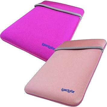 iGadgitz de color rosa/de color rosa funda blanda Reversible de neopreno para 30,48 cm Diseño de jaulas para ordenador portátil: Amazon.es: Informática
