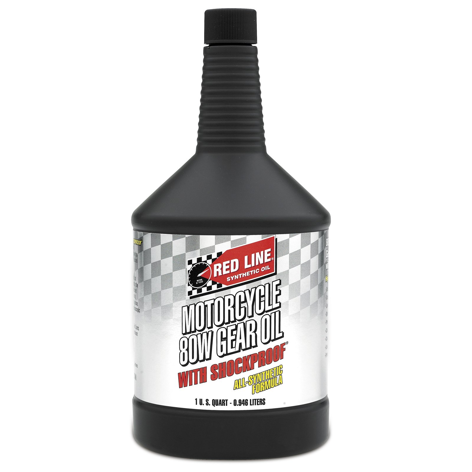 Red Line 42724 80W Motorcycle Gear Oil with Shockproof - 12/1  Quart