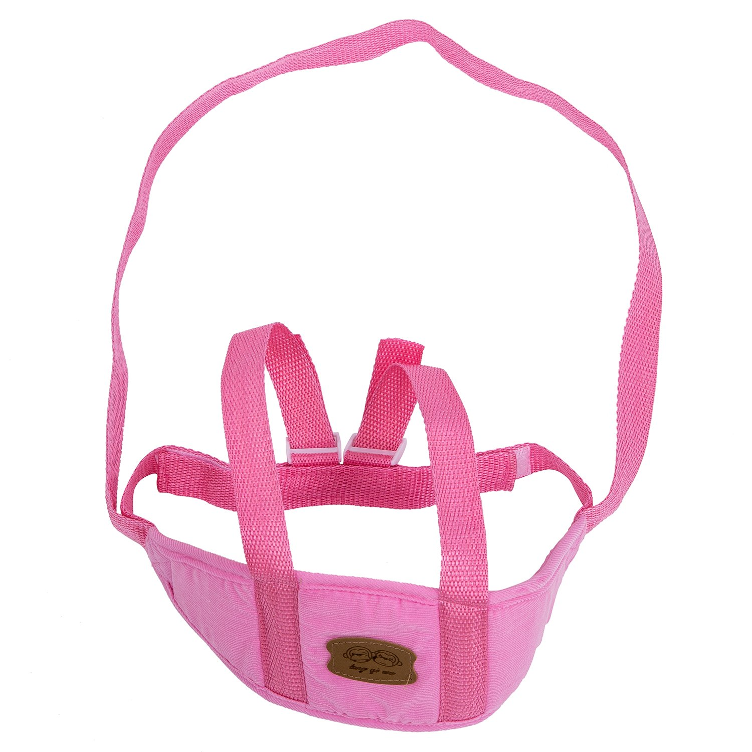 TOOGOO(R) Baby Child Toddler Safety Easy Wash Harness & Step Walking Assistant Reins - Pink