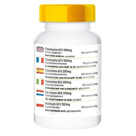 Co-enzima Q10 200mg - 100 comprimidos - artículo vegano ...