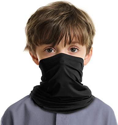 Multi Use Kid Boys Girls Biker Cycling Neck Tube Scarf Snood Face Warmer Bandana