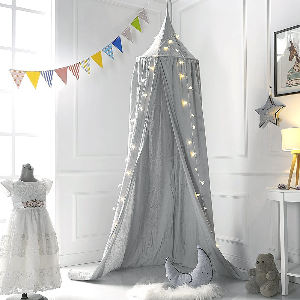 Amazon.com Mu0026M Mymoon Bed Canopy Reading Nook Tent Dome Mosquito Net Hanging Decoration Indoor Game House for Baby Kids (Grey) Baby & Amazon.com: Mu0026M Mymoon Bed Canopy Reading Nook Tent Dome Mosquito ...