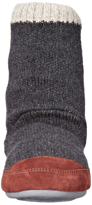 Acorn Men's Slouch Boot Slipper, Charcoal Ragg Wool, Medium/9-10 B US by Acorn (Image #4)