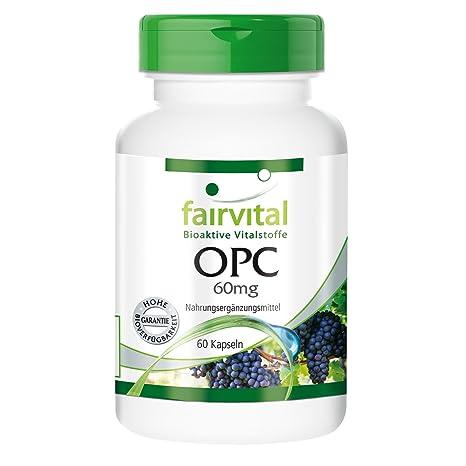 OPC 60mg - VEGANO - 60 cápsulas - extracto de semilla de uva ...