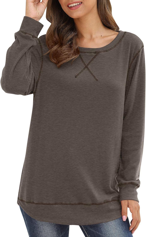 Spadehill Women's Casual Loose Fit Long Sleeve Shirt