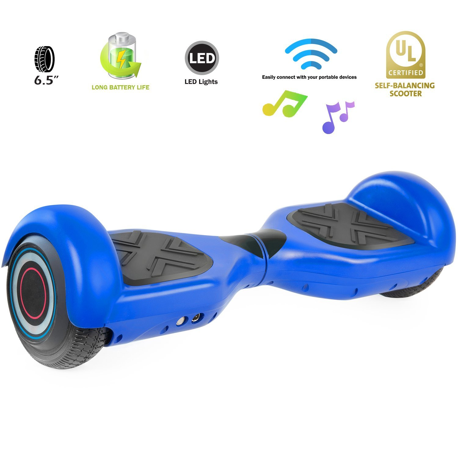 XPRIT Easter Sale Hoverboard w/Bluetooth Speaker (Blue) by XPRIT (Image #6)