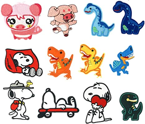 DIY Animals Cartoon Embroidery Stickers Sew Iron On Patches Badge Clothes Fabric