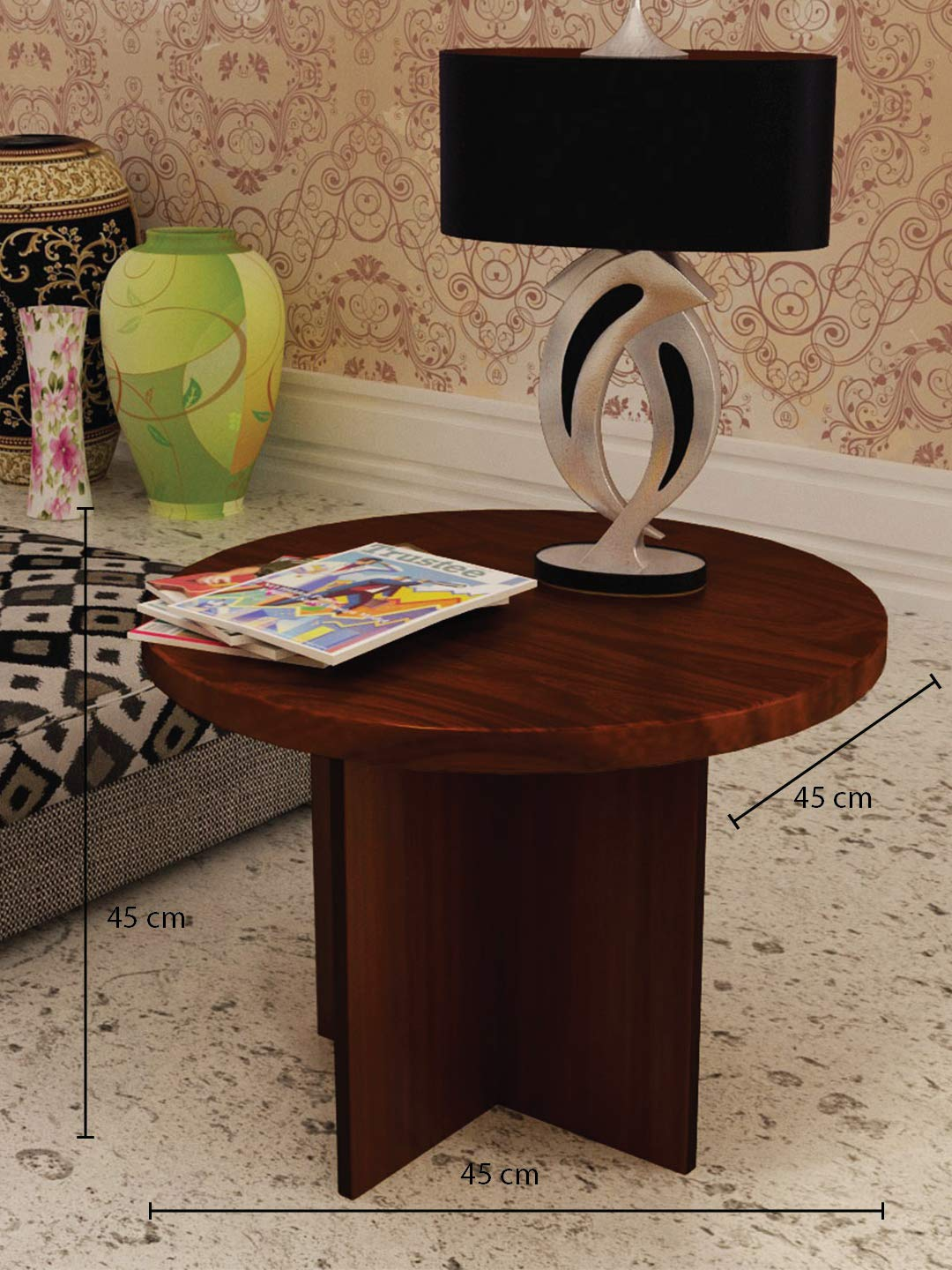 Home Sparkle Corner Table Engineered Wood Brown Amazon In Home Kitchen